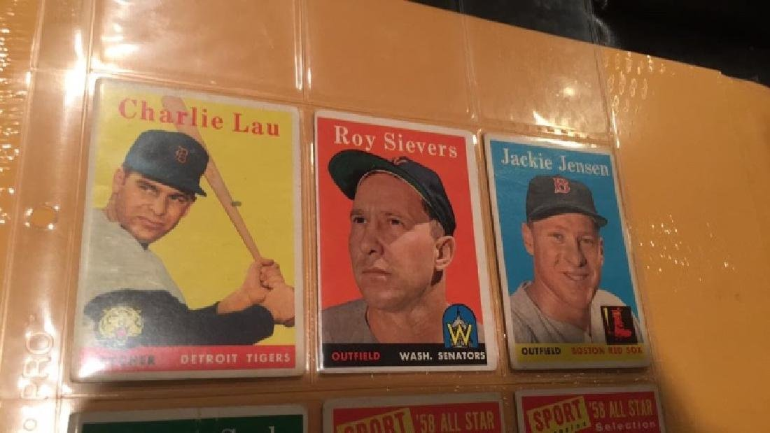 Vintage 1958 and 1959 tops card lot - 3