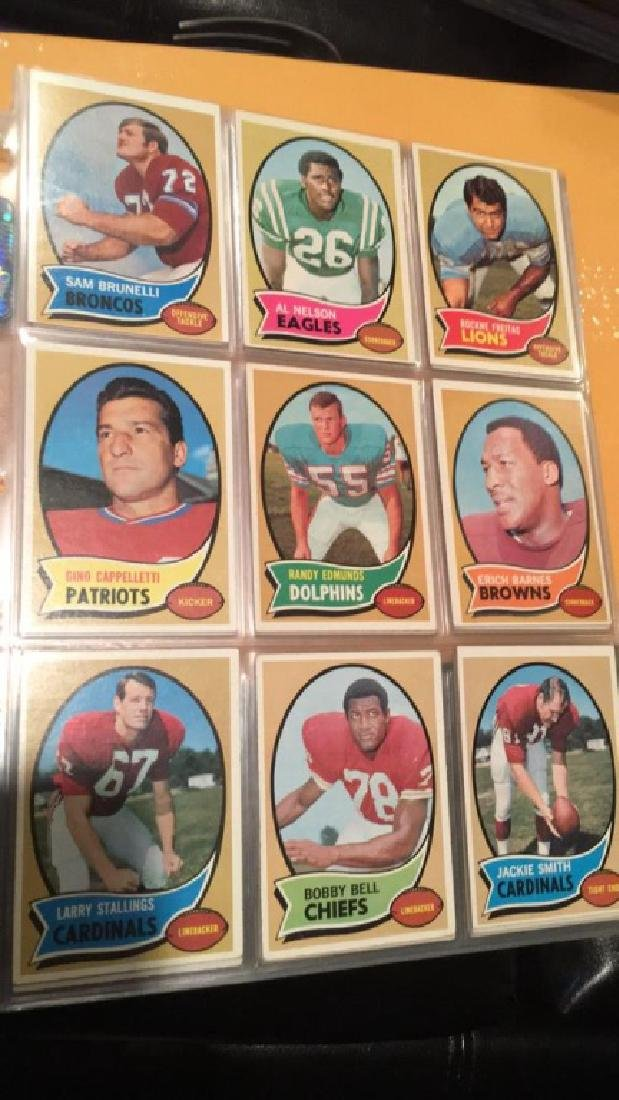 1970 Topps vintage Football lot of 52 cards - 5
