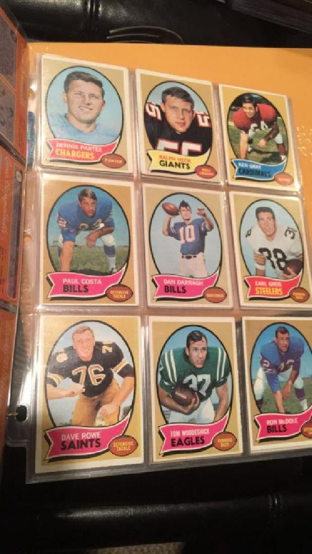 1970 Topps vintage Football lot of 52 cards - 6