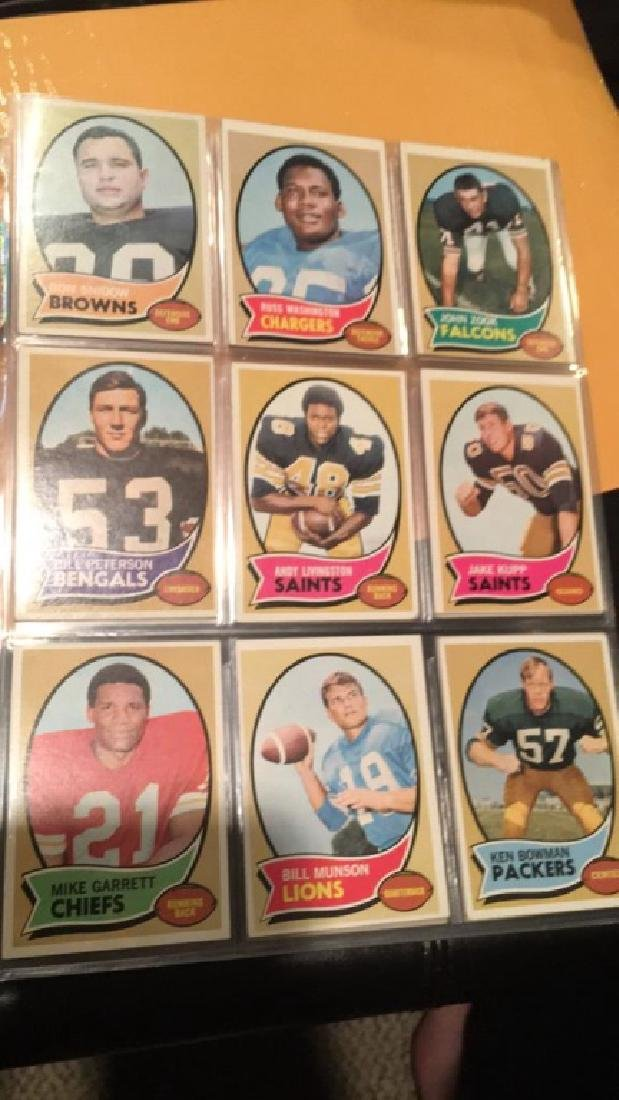 1970 Topps vintage Football lot of 52 cards - 7