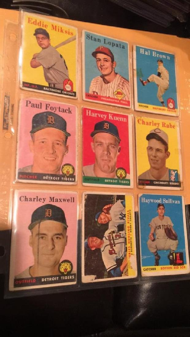 Vintage 1958 and 59 baseball cards