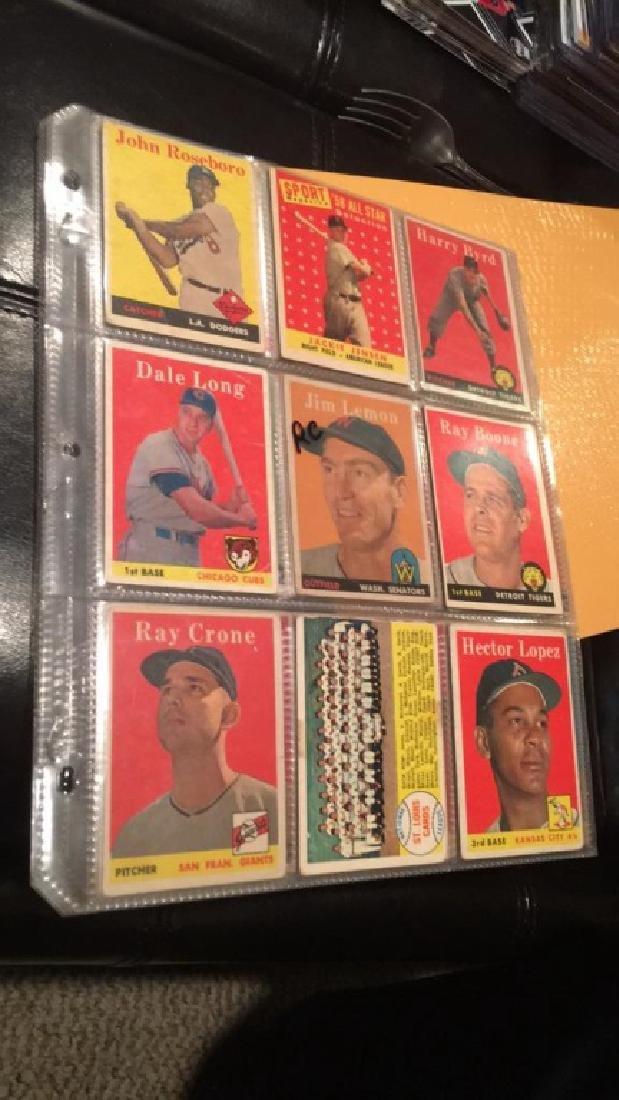 Huge lot of 57 vintage 1958 Topps Baseball cards