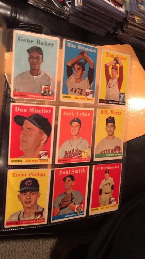 Huge lot of 57 vintage 1958 Topps Baseball cards - 7