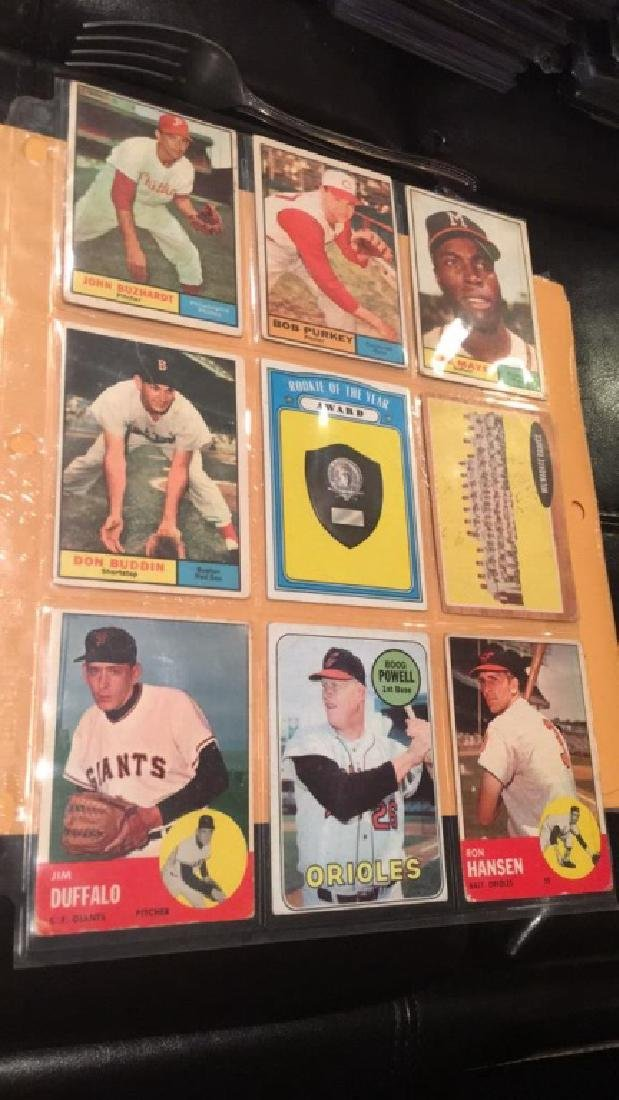 Vintage baseball card lot mixed years from the