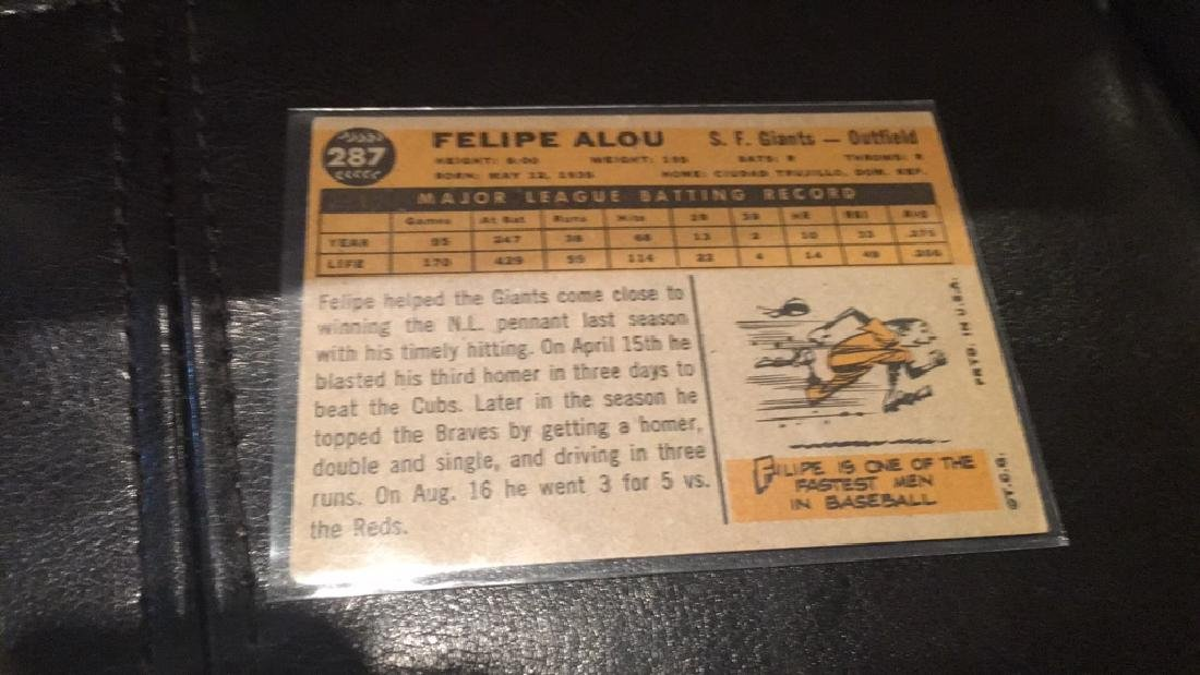 Felipe ALou 1961 Topps - 2