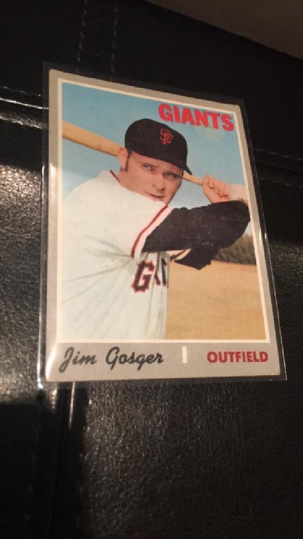 1970 tops hi number James Gosger