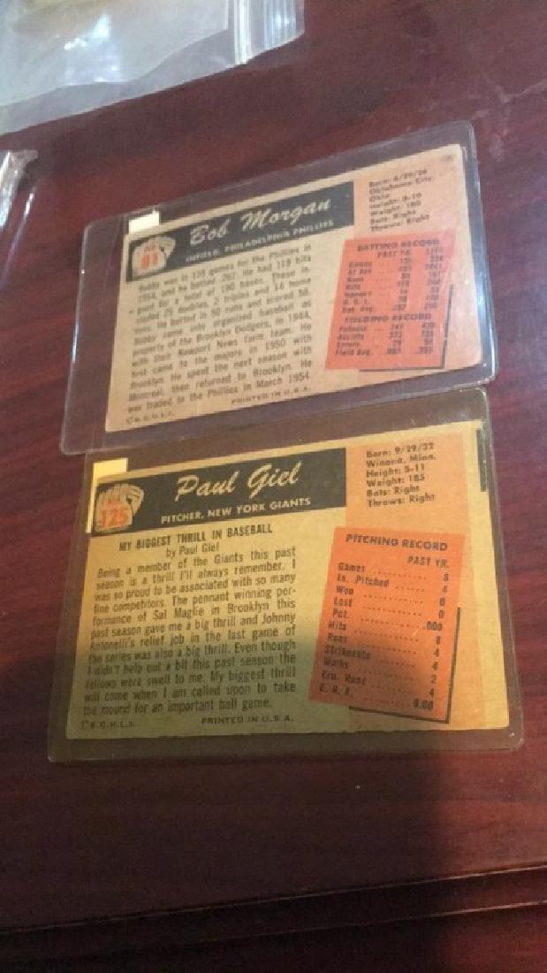 1955 Bowman vintage baseball card lot - 2