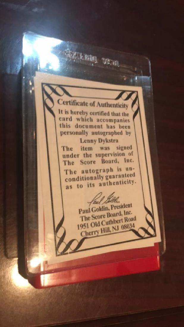 Lenny Dykstra Upper Deck autograph /1991 - 2