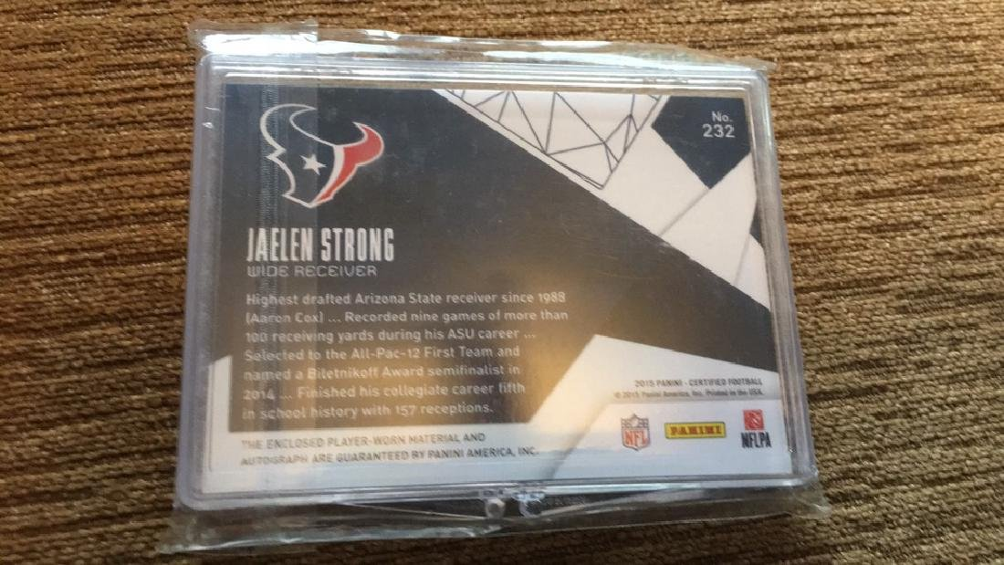 Jaelen Strong 2015 certified patch auto RC - 2