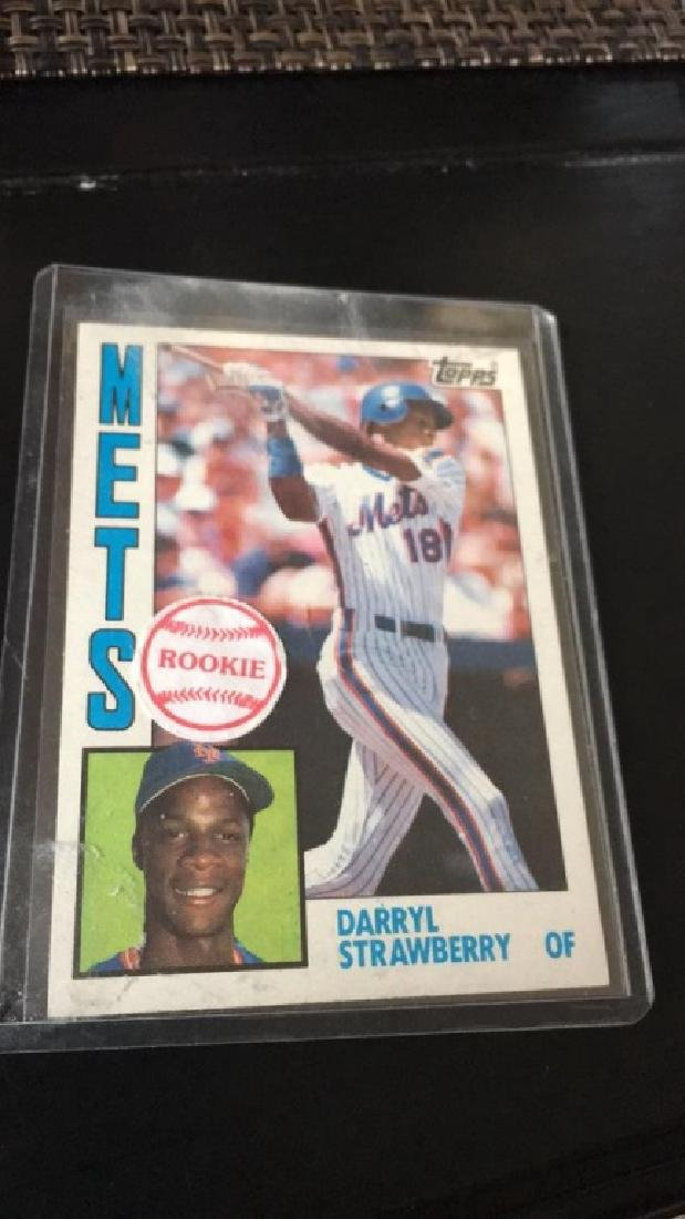 Darrell strawberry 1984 tops rookie