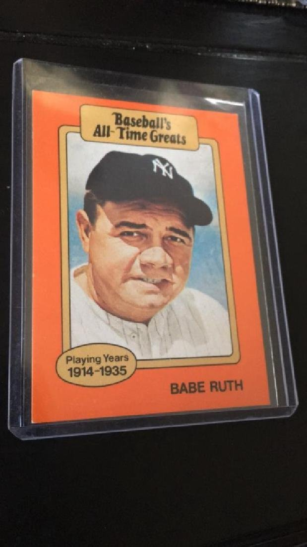 Babe Ruth baseball all time greats card
