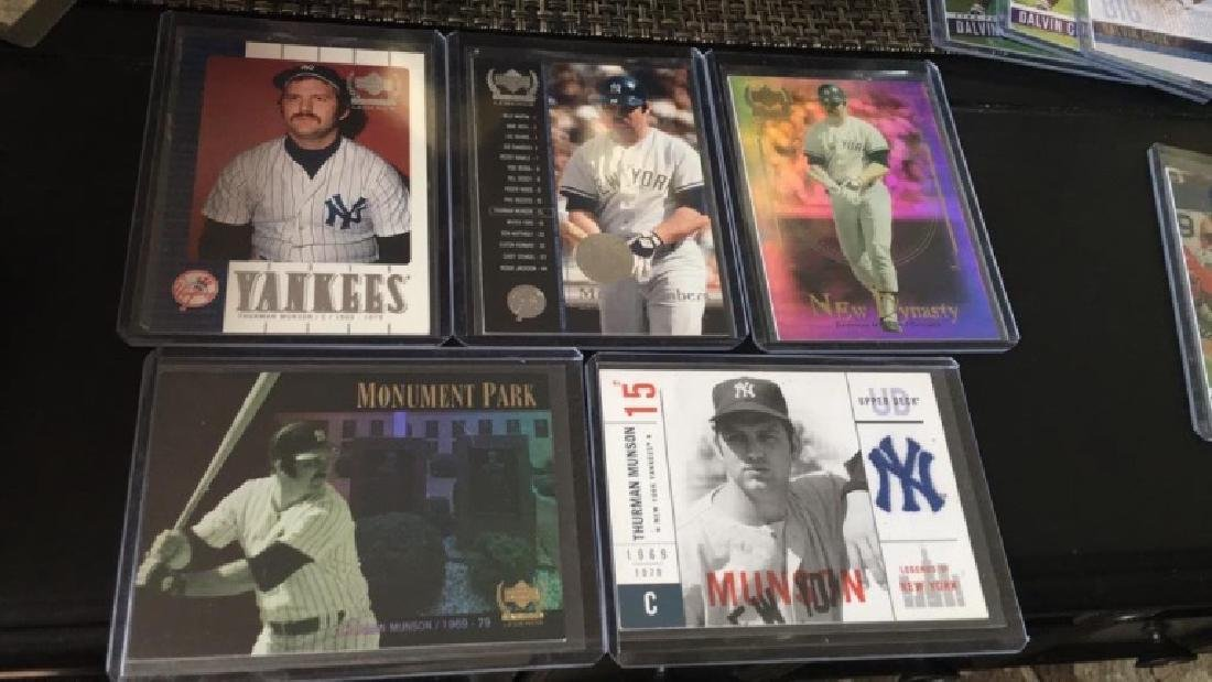 Thurman Munson 5 card lot with nice insert cards