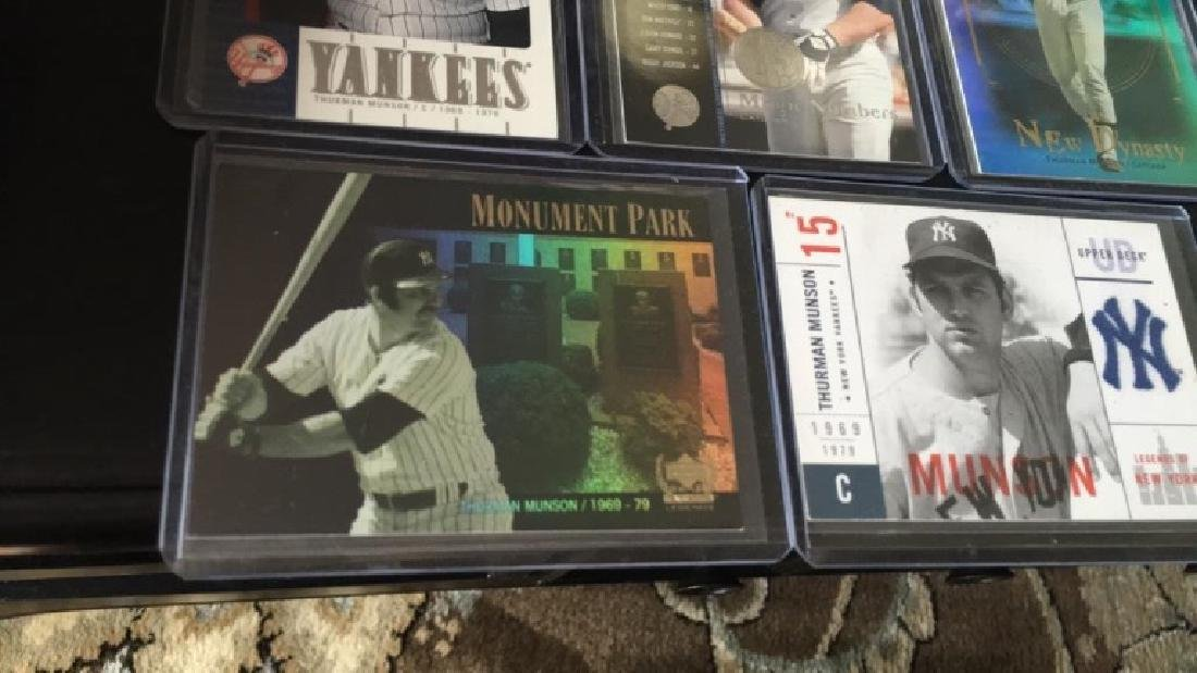 Thurman Munson 5 card lot with nice insert cards - 2