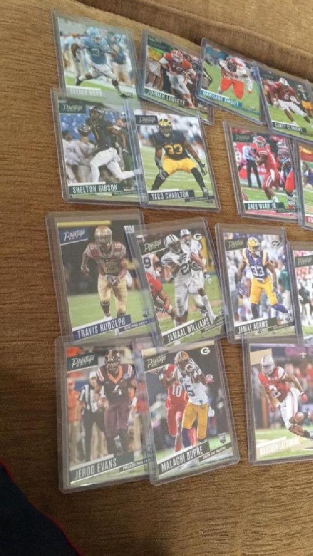 2017 prestige 20 card RC football lot: INVEST - 2