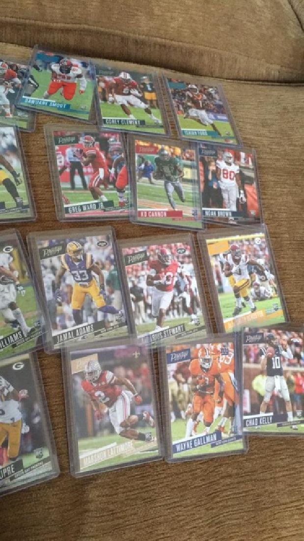 2017 prestige 20 card RC football lot: INVEST - 3