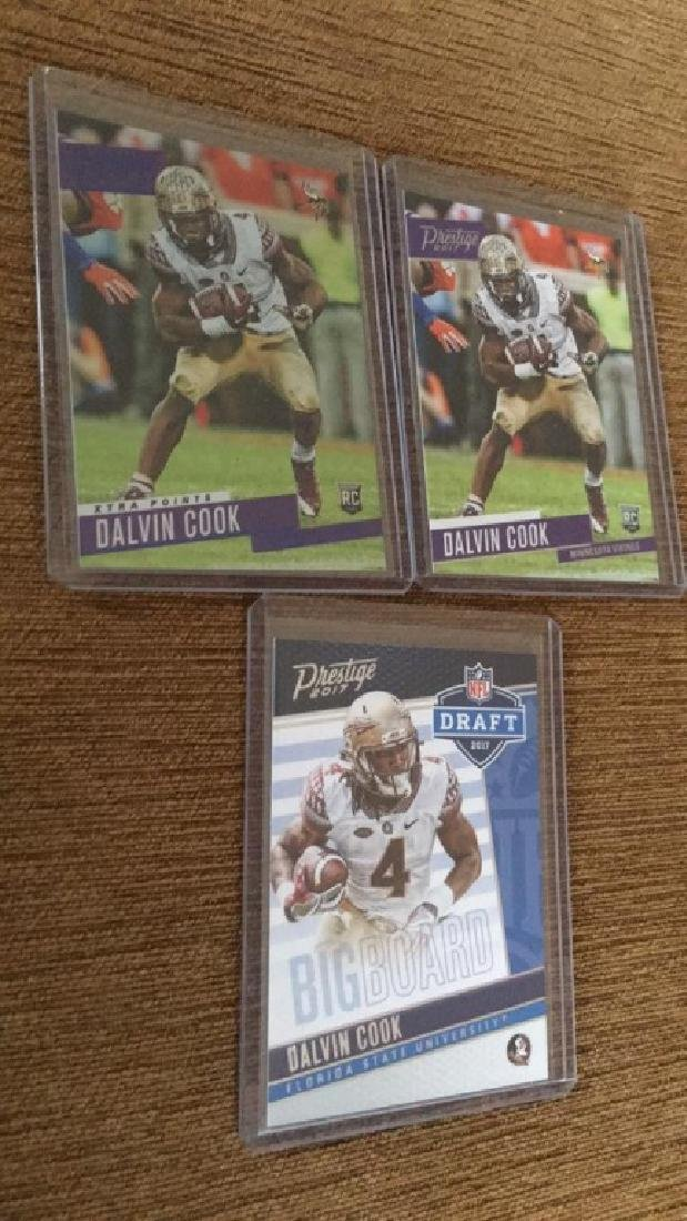 Dalvin Cook 2017 prestige RC lot with extra