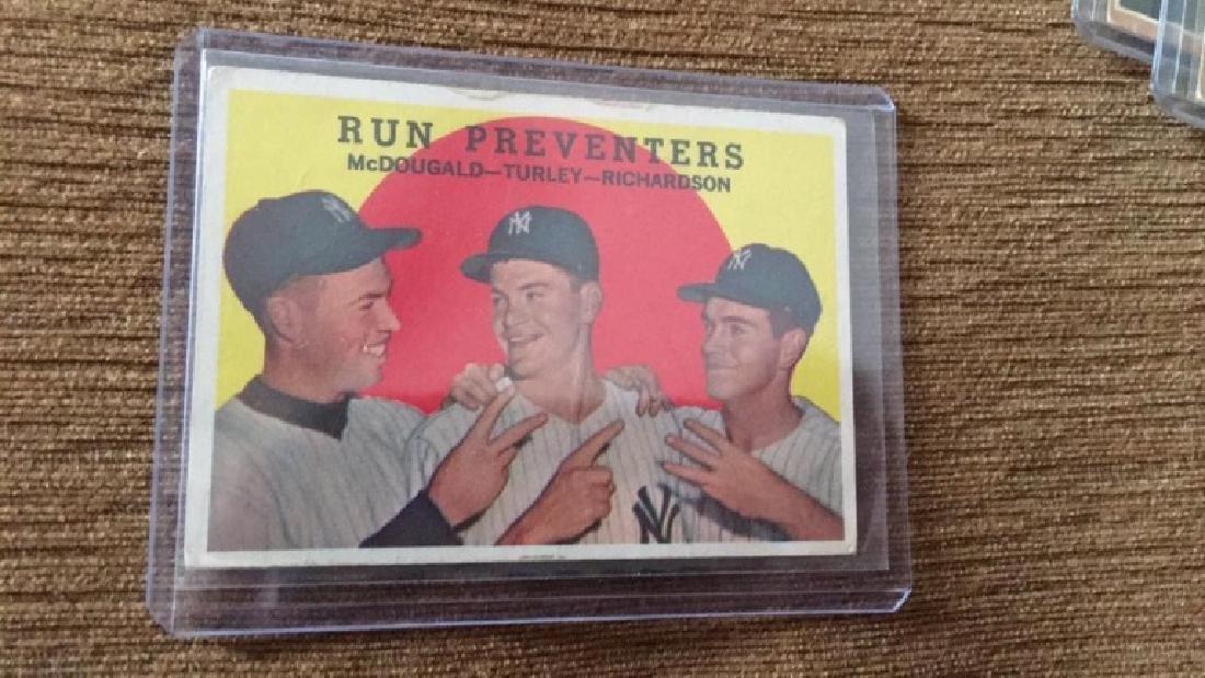 1959 Topps Run Preventers NY Yankees