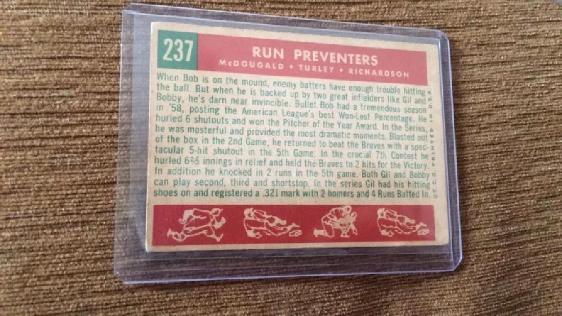 1959 Topps Run Preventers NY Yankees - 2