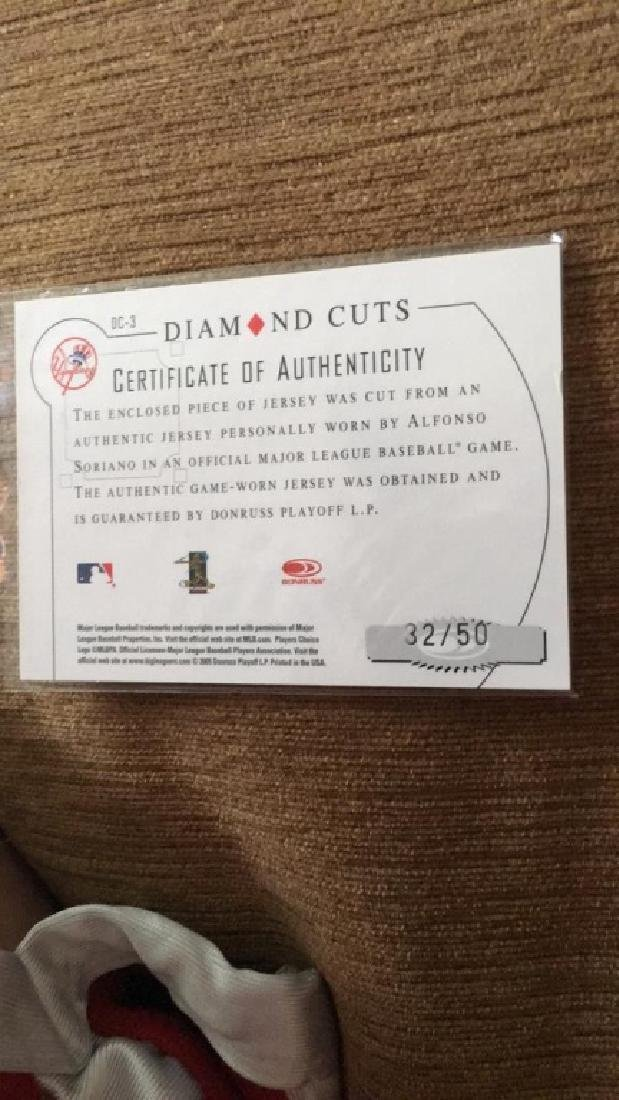 Alfonso Soriano diamond kings jersey card with - 2