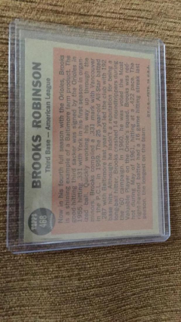 Brooks Robinson 1962 Topps sporting news in nice - 2