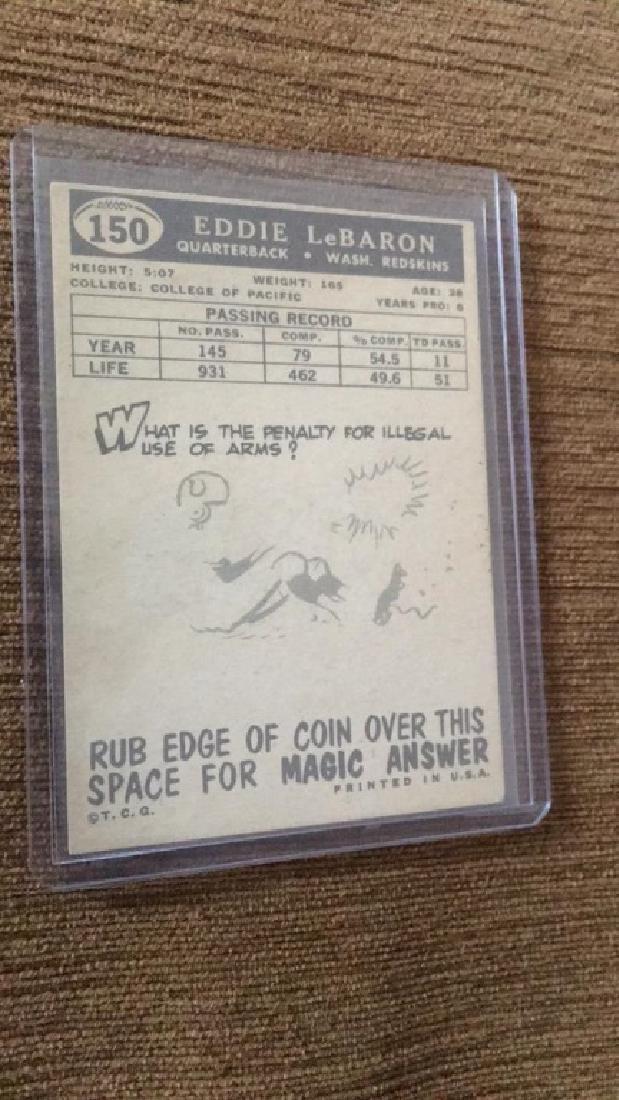 Eddie Lebaron 1959 Topps nice shape - 2