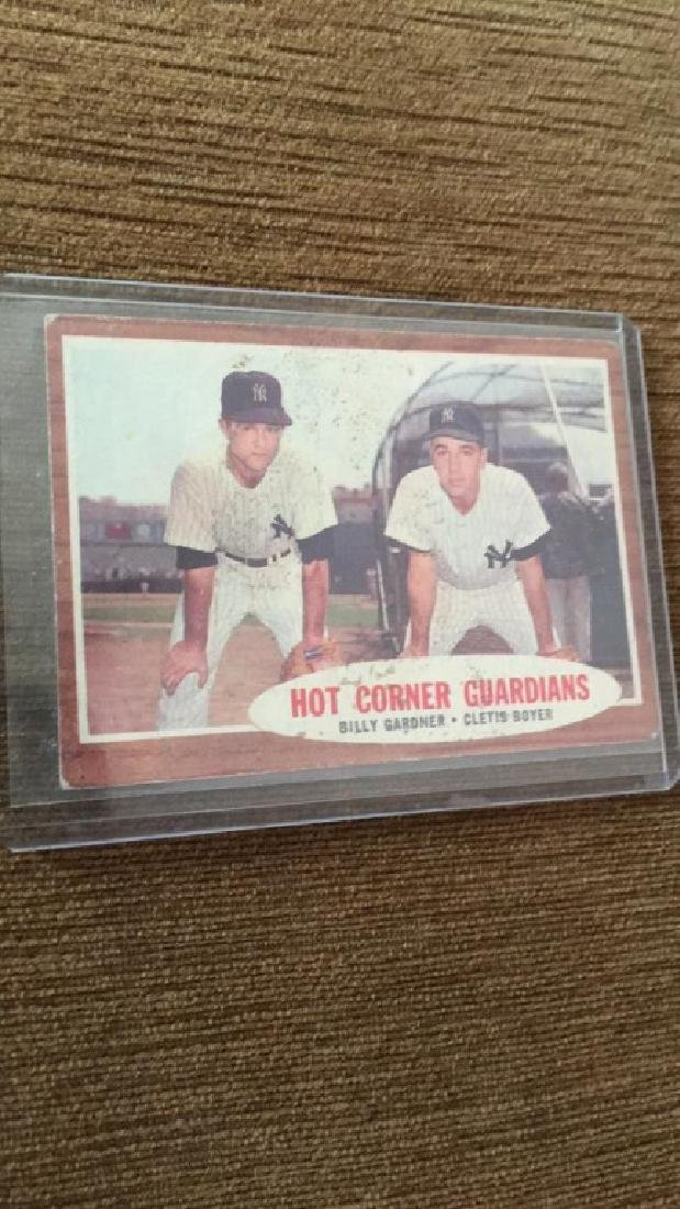 1962 Topps Hot Corner Guardians NY Yankees