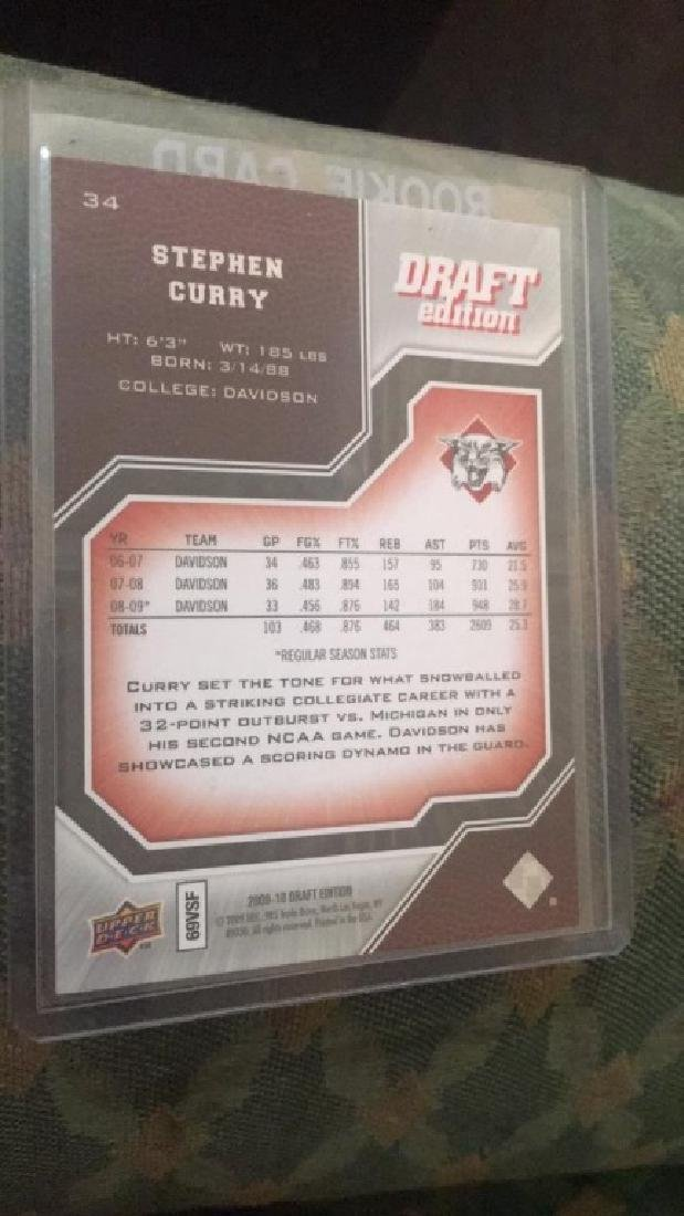 Steph Curry 2009-10 ud draft RC - 2