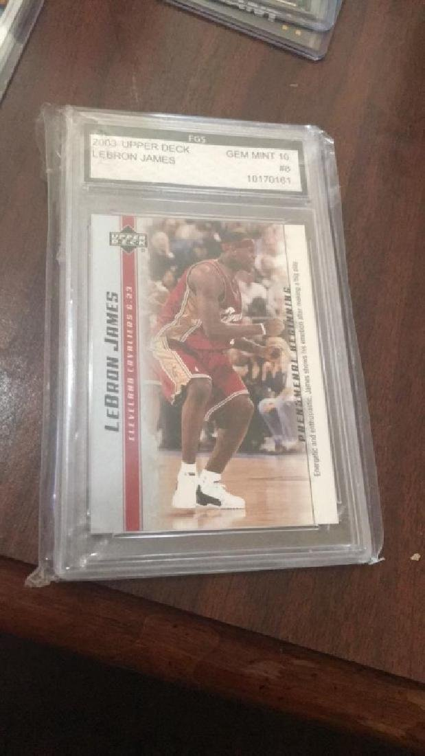 LeBron James 2003 upperdeck Gem mint 10 card