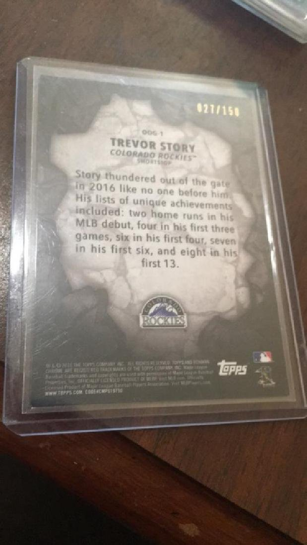 Trevor Story bowman chrome out of the gate sp RC - 2