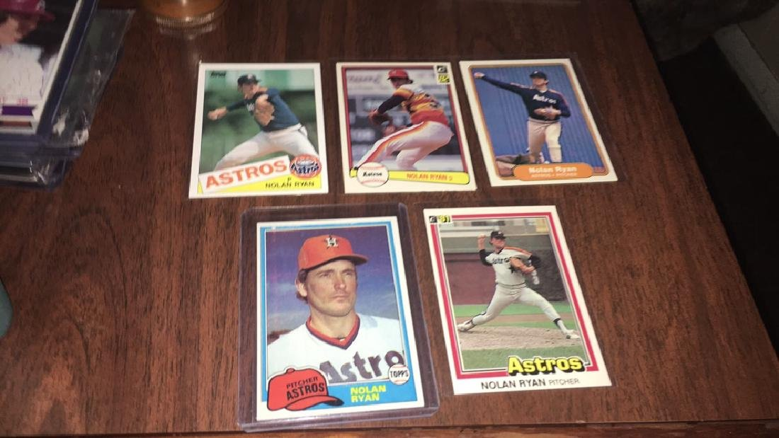 Nolan Ryan 1981 1982 1984 Baseball Card Lot
