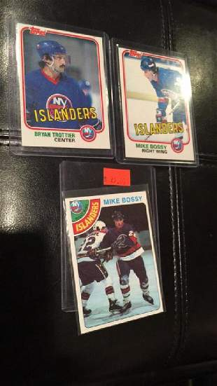 Mike bossy rookie card plus Mike bossy 3rd year