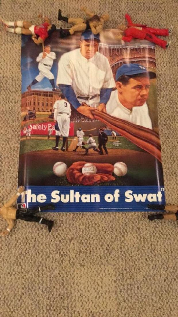 Babe Ruth the Sultan of swat vintage poster