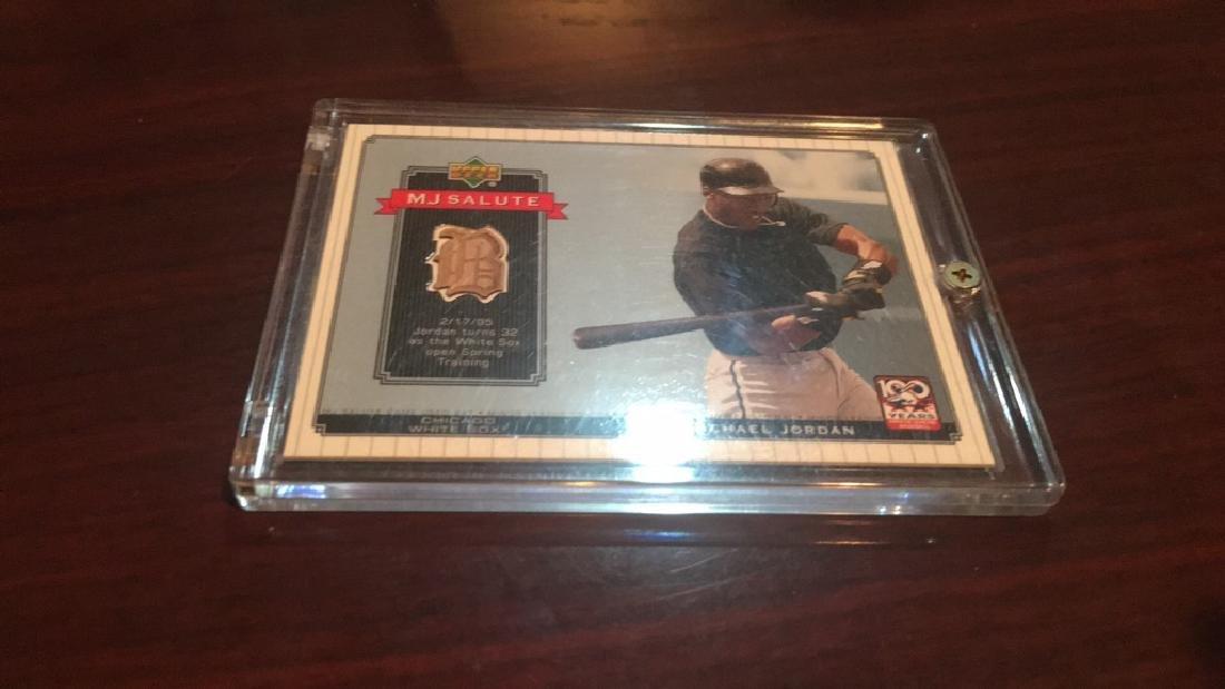 Michael Jordan 2001 MJ salute game used bat card