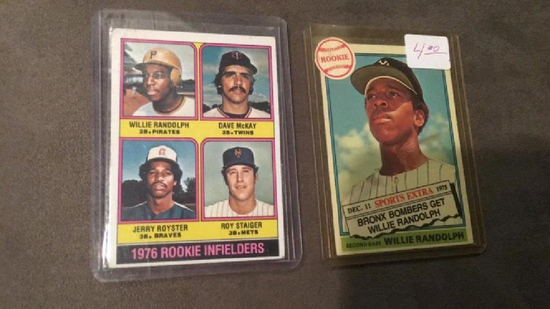 Willie Randolph 1976 Topps RC lot