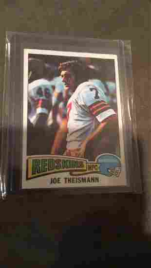 Joe Theismann 1975 Topps RC NRMT plus