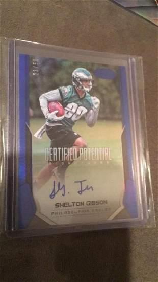 Shelton Gibson certified auto rookie 50