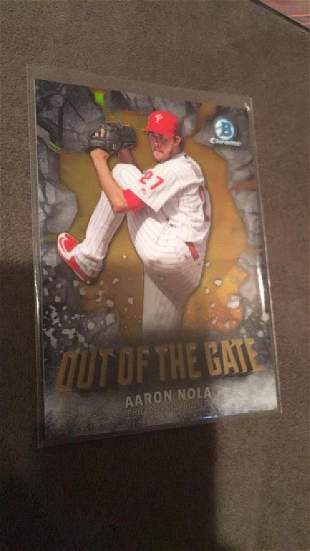 Aaron Nola 2016 Bowman Chrome Out Of The Gate