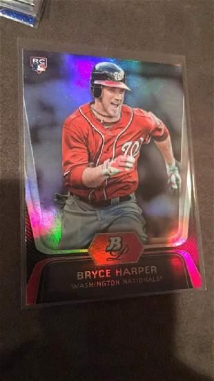 Bryce harper 2012 bowman platinum rookie card
