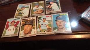 1970 tops seven card lot nice shape