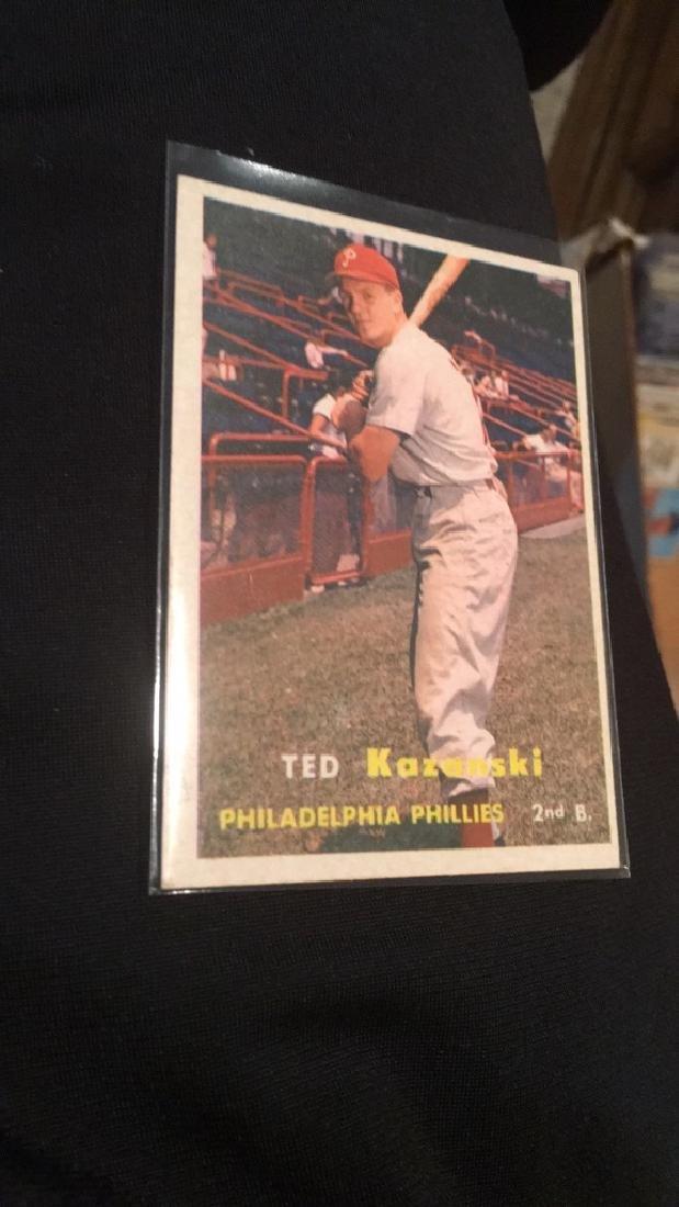 Ted Kazanski 1957 Topps