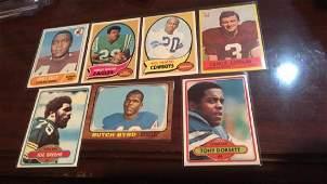Seven card vintage football lot nice lot Harold