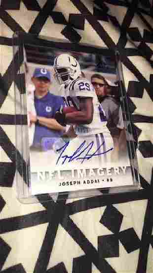 Joseph Addai NFL imagery autograph SP Chirography