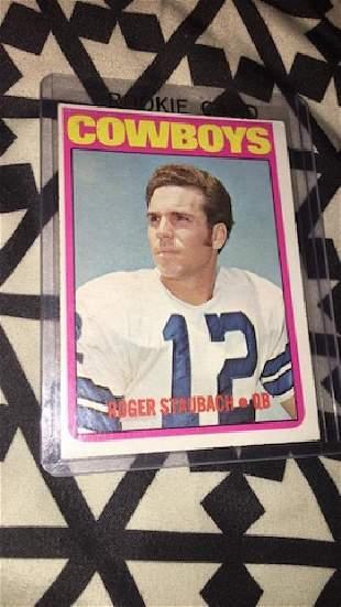 Roger Staubach 1972 tops rookie card nice card