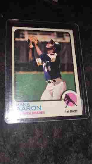 Hank Aaron 1973 Topps