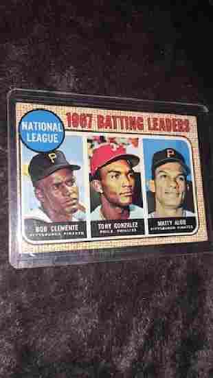 Bob Clemente 1968 tops batting leaders