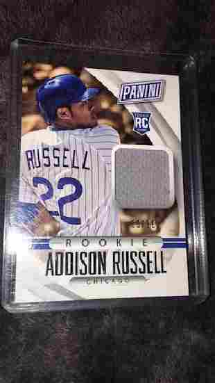 Addison Russell Panini rookie jersey SP99