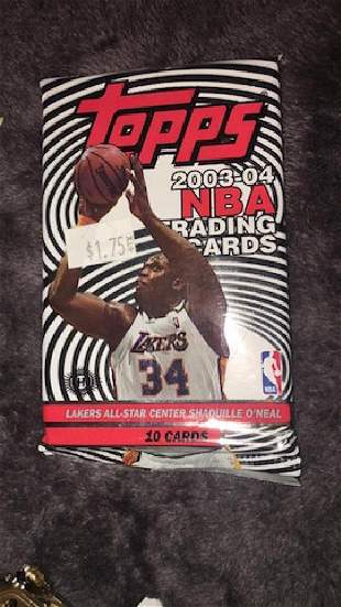 200304 Topps basketball unopened pack possible