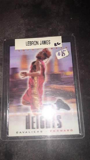 LeBron James Cityheights rookie card
