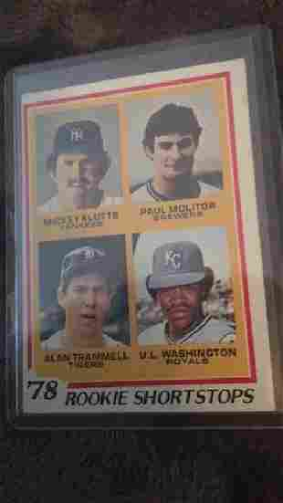 Paul molitor and Alan Trammell 1978 top rookie