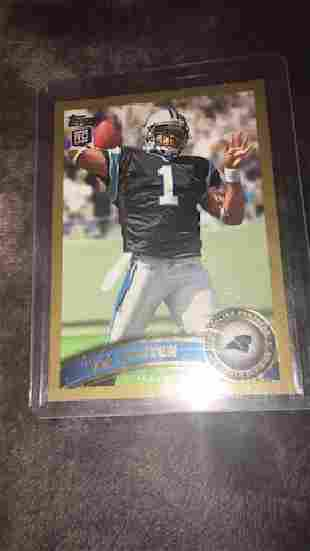Cam Newton 2011 Topps gold RC